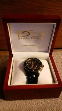 round black chronograph watch with black strap in  Grosse Pointe Park, 48230