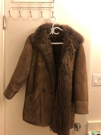 Brown suede fur jacket