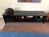 black wooden TV stand with mount Los Angeles
