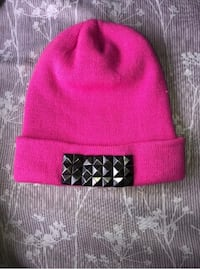 Free Authority Quality Brand Pink Fold-Over Beanie- Pre-owned Honolulu, 96826
