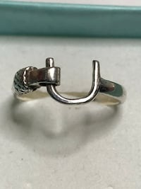 Sterling Silver Hook & Eye it Thumb Ring Size 8.5 Springwater, L0L 1X0