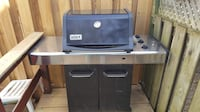 Gray and black weber gas grill