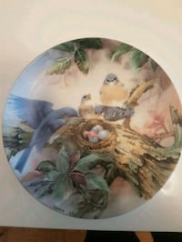 round white and green ceramic decorative plate Toronto, M2M 4B9