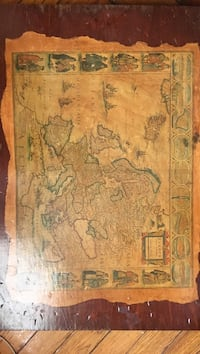 Old map on wood