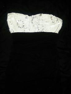 white and gray bandeau