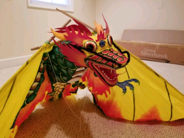Hand Crafted Large Dragon Kite