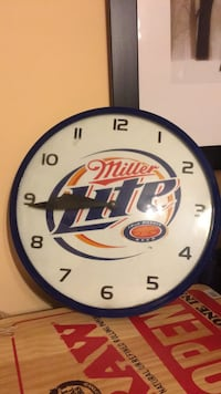 Miller Lite Wall Clock Washington, 20009