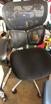 black leather padded rolling armchair Fullerton, 92833