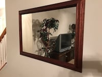 brown wooden framed wall mirror Olney, 20832