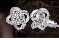 925 SILVER CRYSTAL KNOT EARRINGS  Macomb, 48042