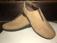 Size 10 womens brown suede slip on shoes