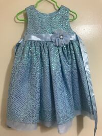 Size 2T Blue party dress. SILVERSPRING