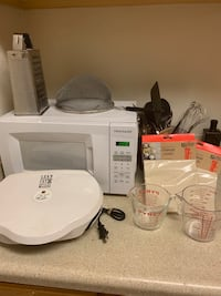 Microwave, Panini Grill, Cheese Grater, Strainer, Measuring Cups