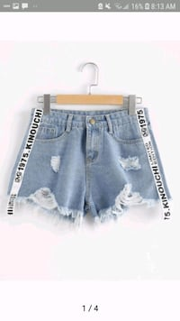 women's blue denim shorts Lincoln, L0R 2C0