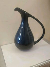 black and blue ceramic pitcher vase potery Richmond Hill, L4S