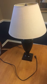 White and black table lamp Austin, 78717