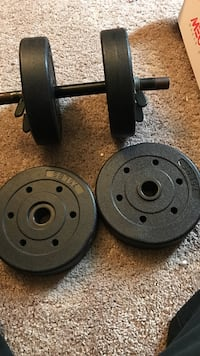 black adjustable dumbbells and weight plates Lakewood, 90715