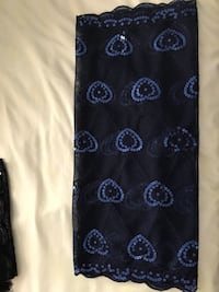 Black and blue floral textile Montreal, H8N