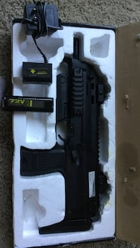 Black assault airsoft rifle kit