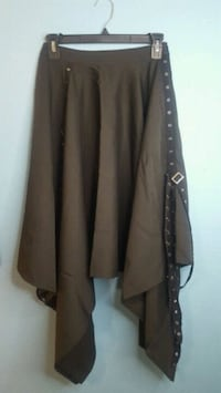 Long Skirt with Buckles Womens S/M