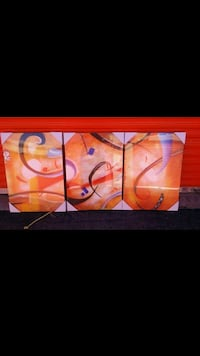 Beautiful 3 piece abstract painting! Brand new!