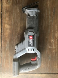 gray and black Porter Cable power tool 1615 mi