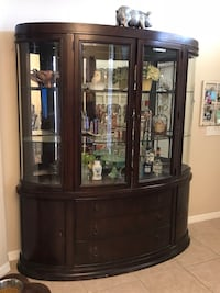 Beautiful Didplat Cabinet. High end piece. 79 tall 72 w great condition price firm  Cape Coral, 33993