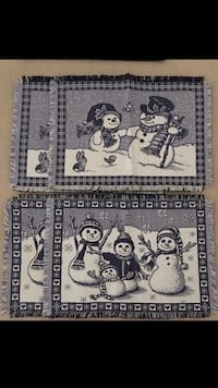 4 Cloth Snowman Placemats
