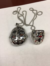 Friday The 13th Jason  Ring and Pendant Set