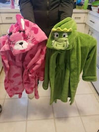 Pink bunny and green alligator kids house coats  Edmonton, T5A