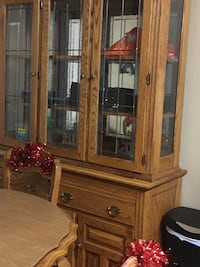 Kitchen table and China cabinet