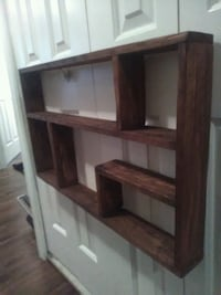 "Reclaimed wood stained shelf (30"" x17"") Langley, V2Z 2V2"