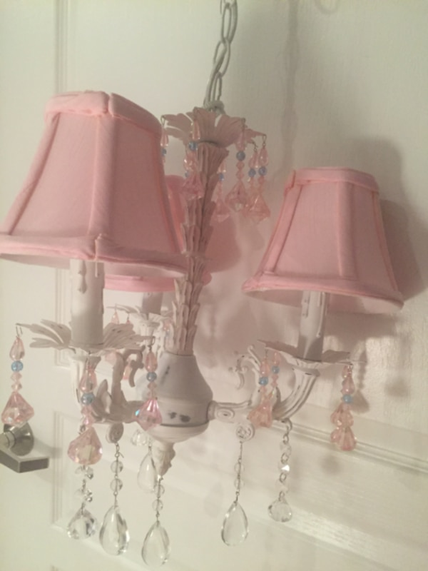 Crystal chandelier for baby or girl's room