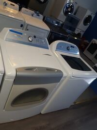 Cabrio top load washer and gas dryer set in excellent condition