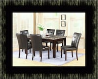 5pc dining table set with 4 chairs McLean