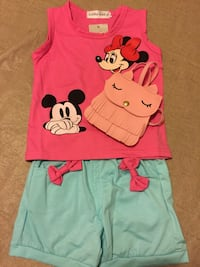 New Pink Mickey Mouse Clothing Set