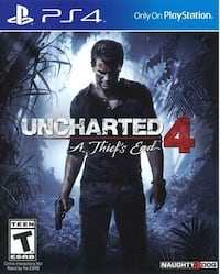 Uncharted 4 PS4 Disc Only Milton, 30005