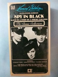 Alexander' Korda's Spy in Black vhs