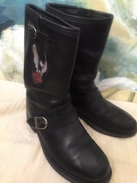 pair of black leather boots Anaheim, 92808