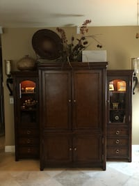Tv Entertainment Center with 2 China Cabinets Henderson, 89012