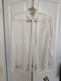 Forever 21 White Blouse with Neck Tie - Size XL Toronto, M4P 1T9