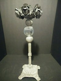 "METAL CANDLE 14"" TALL"