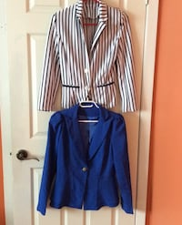 Long sleeve blazers blue white and black size M/L  Toronto, M3K 1Y3