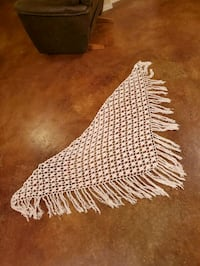 Antique crochet table shaw cover