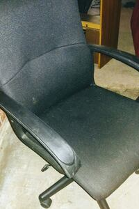black fabric rolling armchair Humble, 77346