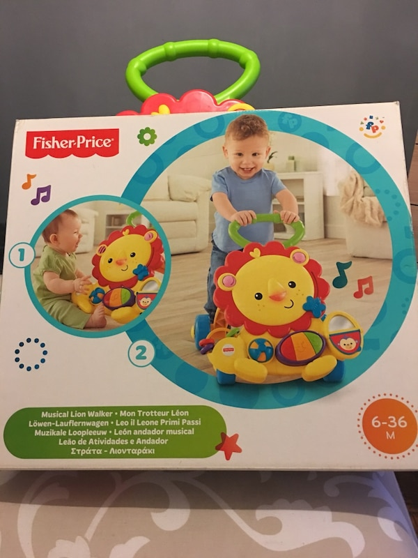 Fisher-price musical lion walker box