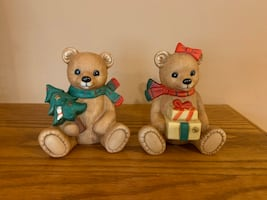 Xmas Teddy decoration pair!