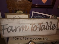 Farm to Table Wooden Sign  Granite Falls, 28630