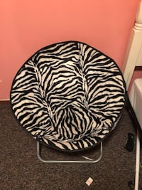 Zebra print chair Dorr, 49323