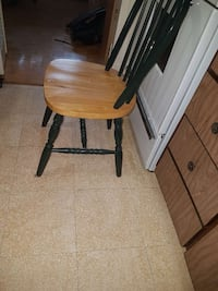 brown wooden windsor chair with black wooden base Ottawa, K2A 1H2